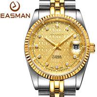 EASMAN Watch Men Gold Watch Luxury Overgild Gift 2015 Mechanical Watch Brand Sapphire High Boss Style Wristwatches Men Watch
