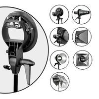 Photo Studio Accessories New PRO Godox S-Type Bracket Bowens Mount Holder for Speedlite Flash Snoot Softbox Black