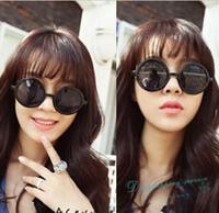 Atmospheric Metal Mirror Leg Round Retro Round Frame Sunglasses Fashion Sunglasses Woman Free Shipping