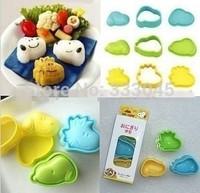 FREE shipping kawaii sushi mold DIY rice maker Japanese kitchen accessories bento seaweed nori onigiri stamp cutter punch gadget