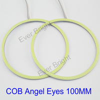 High Quality COB!! 60Pieces(30pairs) Auto Halo Rings COB 100MM Angel Eyes Car Headlight Motorcycle White Super Bright 12V Led