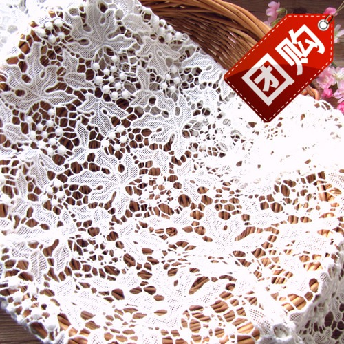 Beige grape cotton lace can make dress or background cloth(China (Mainland))