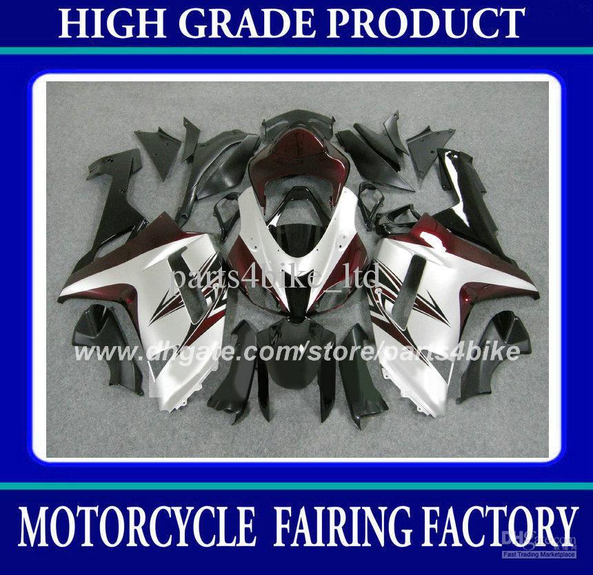 Custom race for Kawasaki ZX6R fairing kits 07 08 ZX-6R 2007 2008 fairings high grade red black bodywork set V12x(China (Mainland))
