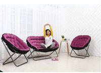 Folded double cloth art sofa chair fashion leisure chair lazy sofa sitting room the bedroom balcony