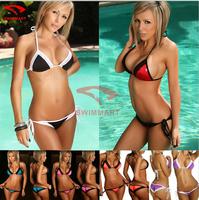 2015 New Sexy Lace Bikinis Set Brand trim Vintage Bikini Swimwear Black Bathing Suit New scrunch butt bikini swimsuits