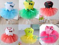 Princess Dress Dog Wedding Dress Gauze Skirt Pet Skirt Pet Supplies Dog Dresses Free Shipping