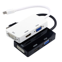 Hot Sale 2015 Mini DP Combo 3 in1 Mini DisplayPort DP Adapter To Micro HDMI VGA To Hdmi DVI  For Apple Macbook Pro 2 3
