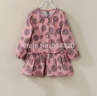 Kids Girls floral printed  Dress long sleeve cotton dress Spring Winter new