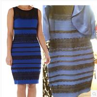 Roman Originals - Lace Detail Bodycon Dress Ladies Royal Blue