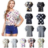 t shirt women 2015 New casual Print Chiffon Tops o-neck woman t shirt fashion Loose plus size short sleeve Tees roupas femininas