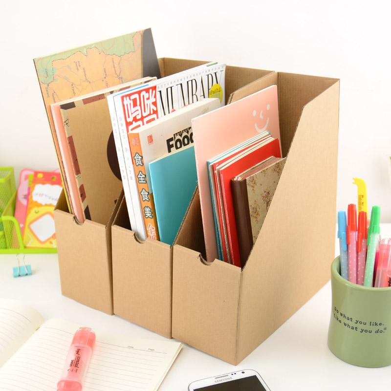 Eenvoudige Klassieke Desktop Tijdschrift Boeken Papier Opbergdoos