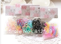 H4 Girl hairclips Children red pink blue candy color elastic hair bands girl headwear hair jewelry baby hair accessory free ship
