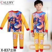 2015 new children long sleeve big hero 6 clothing set / boys clothes set / kids clothes boys / boys pajamas  X-837