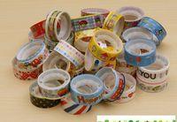 10pcs/lots New Cartoon Stationery Tape DIY Decor Sticky Stationery Adhesive Sticker Free Shipping