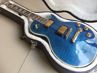 Free Hardcase Free Shipping  China LP blue burst Supreme electric guitar top quality 101022