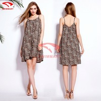 free shipping fashion 2015 Spring Casual fashion Sexy Printed cotton Women's Harness dress one size