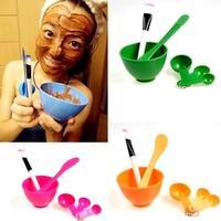 Fashion 6in1 Makeup Beauty DIY Facial Face Mask Bowl Brush Spoon Stick DIY Tool Set 4 color  #EC004
