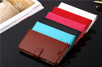 New Luxury Crazy Horse leather Wallet case + Stand + 2 card holder for iphone 6 6G 4.7 inch Flip case