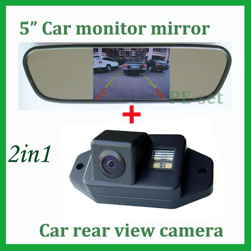 For Toyota Prado Land Cruiser 120 Series Prado 2007 2008 2009 2010 2700 4000 Car reverse rear view camera + car monitor 5 inch(China (Mainland))