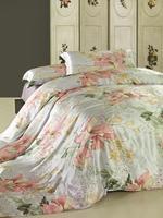 100% mulberry silk 4PCS American big flower bedding bedding set