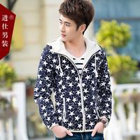 2015 spring thin coat trend teenage jacket male slim outerwear male jacket