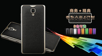 100pcs/lot&Free shipping 2015 New Luxury Design pu leather on back battery cover leather cases for xiaomi mi4 m4