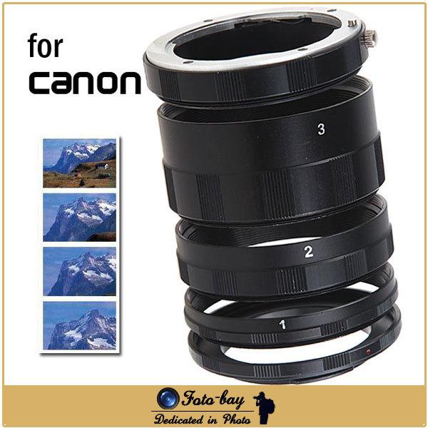 Macro Extension Tube Ring Set Lens Adapter for Canon EOS EF Mount 7D 50D 60D 70D 550D 600D 650D 700D 1100D Rebel T1i XTi XS(China (Mainland))