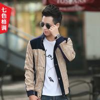 Teenage jacket male 2015 spring casual male slim jacket outerwear