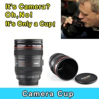 High Quality Creative Design Stainless Steel Camera Lens Cup thermos Stainless Steel Travel Coffee Mug Cup