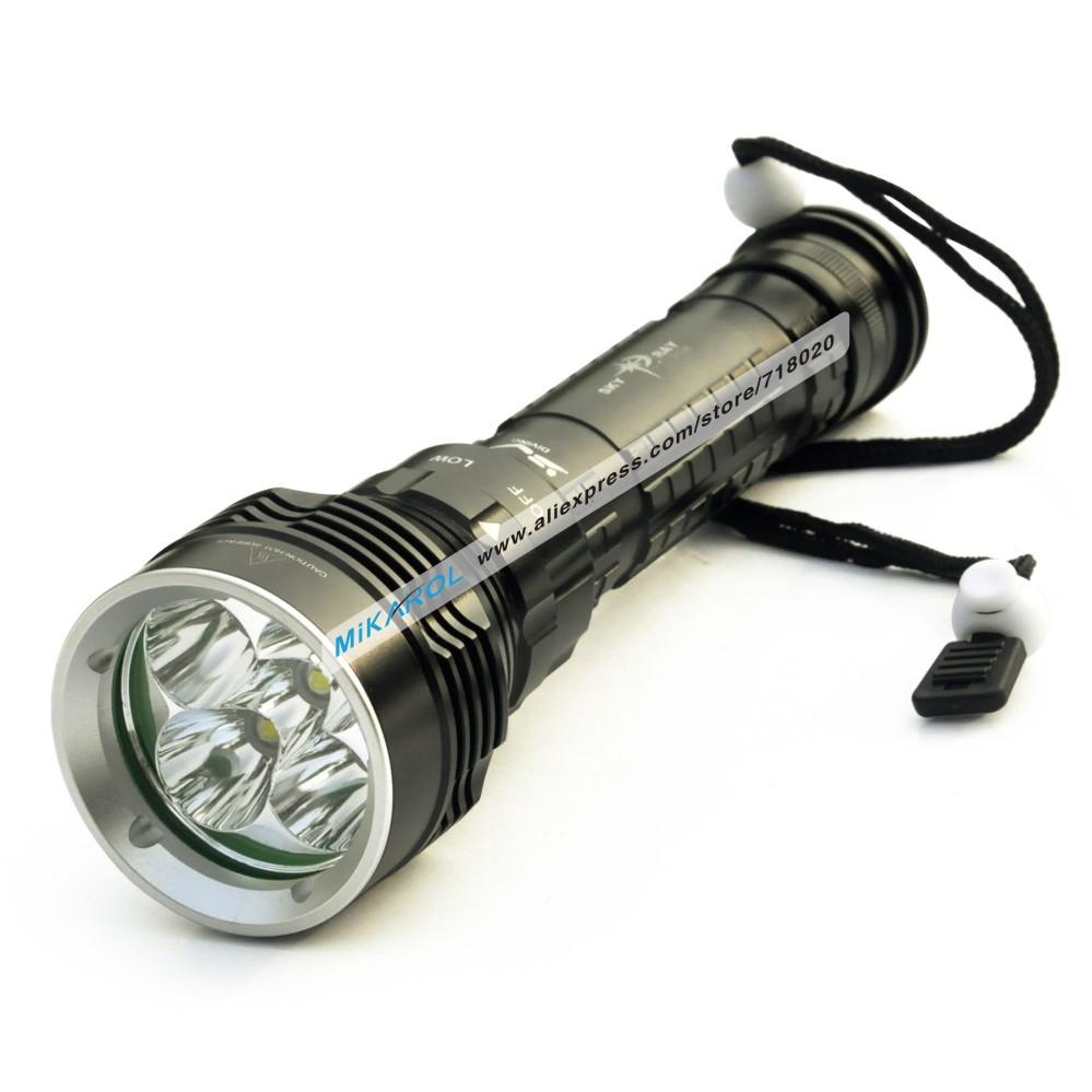 3 Modes 6000 Lumen 5X Cree XM-L2 LED Flashlight Torch Lanterns for Diving Waterproof 100m Depth Underwater Diver LED FlashLight(China (Mainland))
