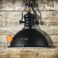 (Diameter 32cm *H 35cm)American Vintage Loft Chain Pendant Light Industry Style Lamp,Black Fashional Pendant Lamp For Home Decor