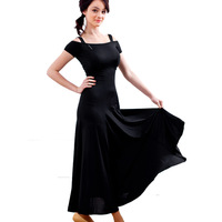 Adult Modern Dance One-piece Dress Women's Ballroom Dance Dresses 4 Colors salsa Dancing Dress Training Waltz/Tango Dress latin