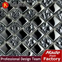 2014 Sale Building Materials Electroplate Silver Color Glass Mosaic Tile Wholesale Price Backsplash Wall Sink Bathroom  gm1502