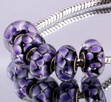 F371 5PCS Free Shipping Murano Glass Beads 925 silver cord fit European Pandora Jewelry Braclet Charms DIY /imkardra gddaouka
