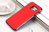 500pcs/lot free shipping hot selling carbon fiber leather stick leather case For Samsung Galaxy S6 G9200