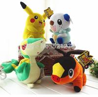 Free shipping wholesale 6pcs/lot Pokemon Pikachu plush soft doll,pokemon stuffed toys