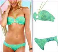 2015 New Fashion bikinis set vintage biquini lace bikinis for women swimwear bathing suits sexy High waist swimming swimsuits