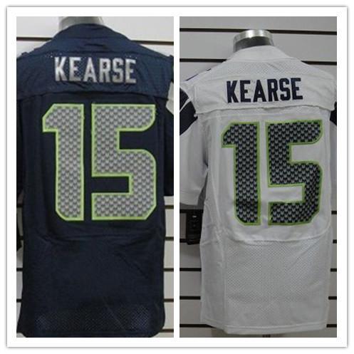 Cheap Men's American Football Jerseys Seattle #15 Jevon Kearse Jersey Home Navy Blue Road White Elite Stitched Jerseys China(China (Mainland))