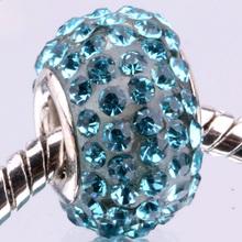 Z077 925 sterling silver DIY thread CZ Crystal Beads Charms fit Europe pandora Bracelets necklaces  /epmangta gndapeka