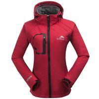 2015 spring Outdoor Jacket Woman Womens Fleece Jackets And Coats Waterproof Windstopper Softshell