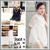 2015 Girls summer sweet  lace dress , summer dress girl , kids dresses , 5pcs/lot   SGL01     reservation