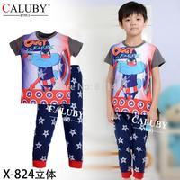 new 2014 autumn boys clothes set / kids long sleeve clothing set / children sleepwear X-824