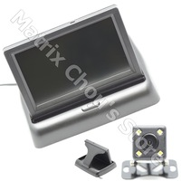 Waterproof 480 x 240 170 Lens Angle CCD Car Rearview Parking Camera With 4.3 Inch Folding TFT LCD Monitor For Reversing Backup
