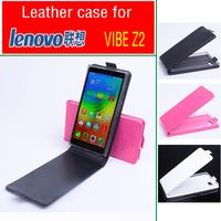 Lenovo Vibe Z2 case Leather Case Flip Cover for Lenovo Vibe Z2 Phone Cover Black White Pink  in Stock
