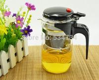 New 500ml simple tea kettle tea-pot Heat-Resistan Glass Teapot Convenient Office glass Tea Pot Set Free shipping