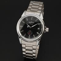 2015 New Winner Brand Men Vintage Skeleton Auto Date Automatic  Mechanical Business Watch Full Steel Analog Wristwatch Relogio