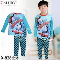 2015 spring new fashion children thomas long sleeve clothing set / kids pajamas set / boys loungewear  X-826
