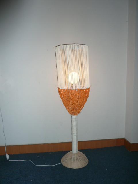Handmade glass woven rattan sofa corner lamp floor lamp lighting lamps rustic Specials(China (Mainland))
