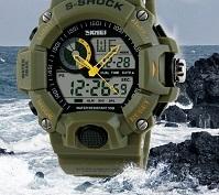 2015 New Arrival G style Quartz Digital Dual Time Watches Men Fashion Man Sports Watches Luxury Brand Skmei Military Army Reloje
