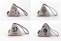 Classic Triagular Coin Bag Creative Retro Nostalgia Multifunctional Storage Bag